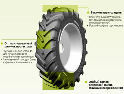 Особенности спец шины Michelin