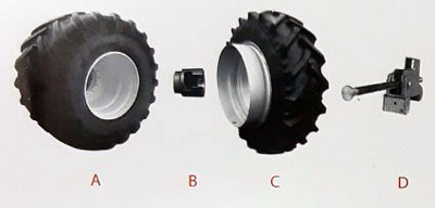 Системы сдвоенных колес